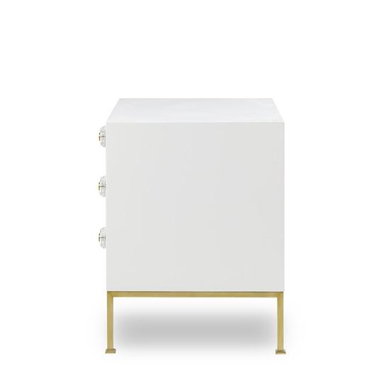 Formal chest 3 drawer white lacquer sonder living treniq 1 1526907438835