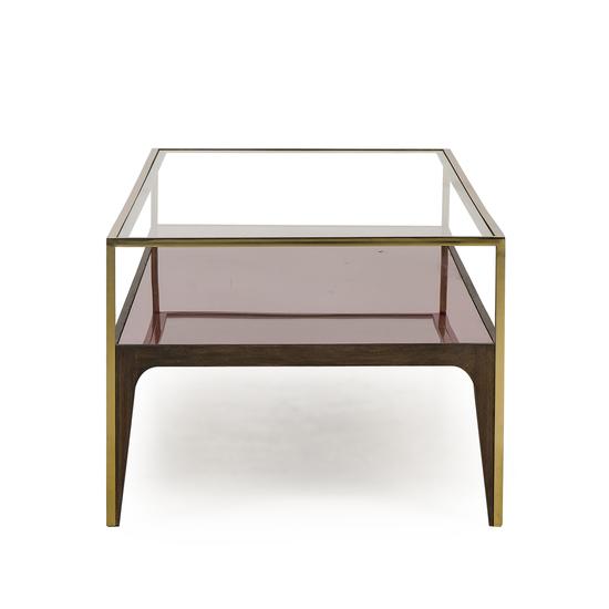 Rubylite coffee table pink glass sonder living treniq 1 1526908694349