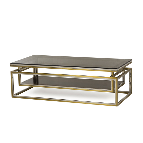 Drop shelf coffee table smoked glass sonder living treniq 1 1526908735724