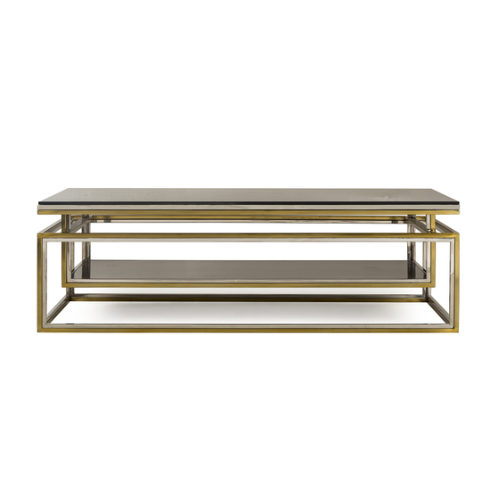 Drop shelf coffee table smoked glass sonder living treniq 1 1526908735759