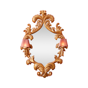 French Mirror Frame with Wall Lights - Hayat 1870 - Treniq
