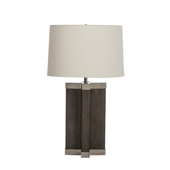 Shagreen lamp grey white shade by nellcote sonder living treniq 1 1526980244106