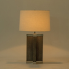 Shagreen lamp grey white shade by nellcote sonder living treniq 1 1526980244131