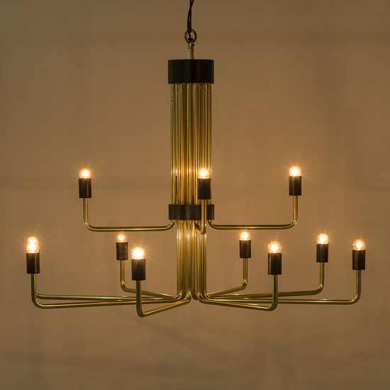 Le marais chandelier 12 light brass by nellcote sonder living treniq 1 1526980393987