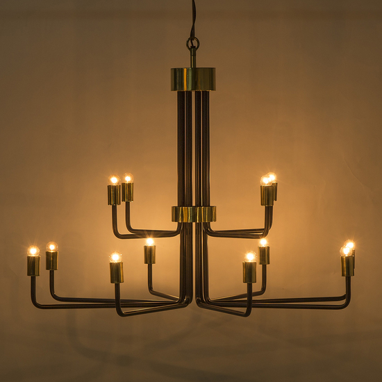 Le marais chandelier 12 light black by nellcote sonder living treniq 1 1526980427155