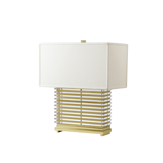 Stack table lamp brass white shade by nellcote sonder living treniq 1 1526981130947