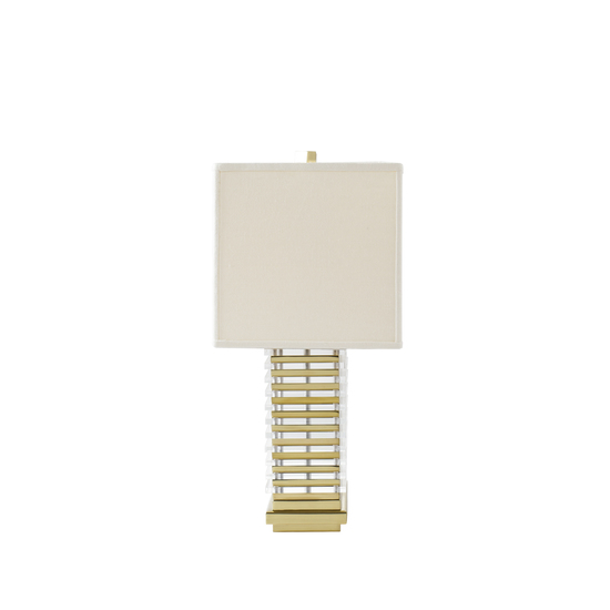 Stack table lamp brass white shade by nellcote sonder living treniq 1 1526981132802
