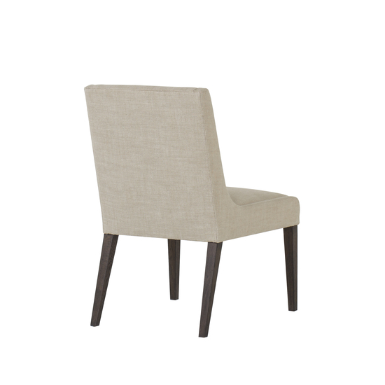 Stacey dining chair textured linen fabric wright finish  sonder living treniq 1 1526988517681