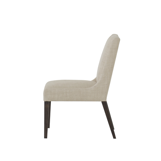 Stacey dining chair textured linen fabric wright finish  sonder living treniq 1 1526988517715