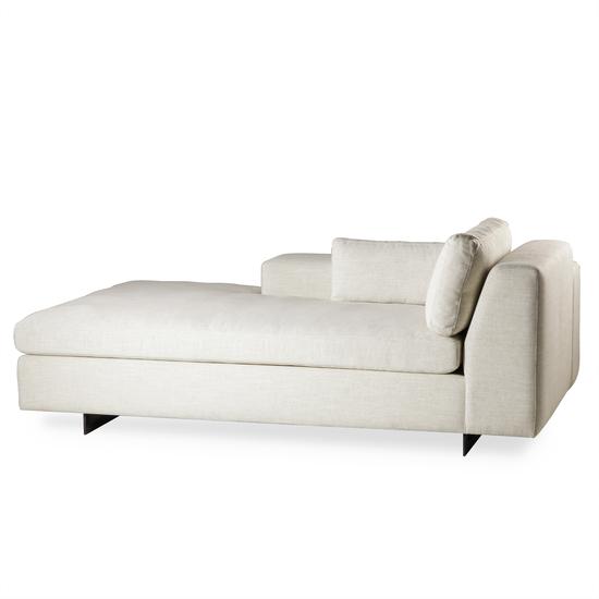 Ian chaise lounge left arm facing  leg a metal sled  sonder living treniq 1 1526989293556