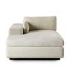 Ian chaise lounge left arm facing  leg a metal sled  sonder living treniq 1 1526989296281