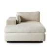 Ian chaise lounge left arm facing  leg a metal sled  sonder living treniq 1 1526989293608