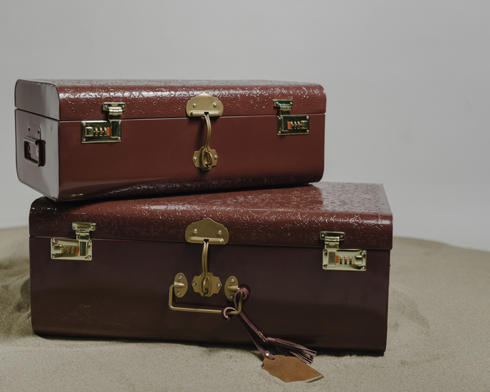 The jal set of 2 trunks with vintage handles living with elan treniq 1 1527164049282