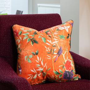 Golden-Pheasant_Vintage-Cushions_Treniq_0
