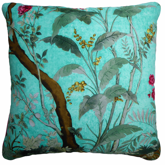 Kingfisher blue vintage cushions treniq 1 1528322678117