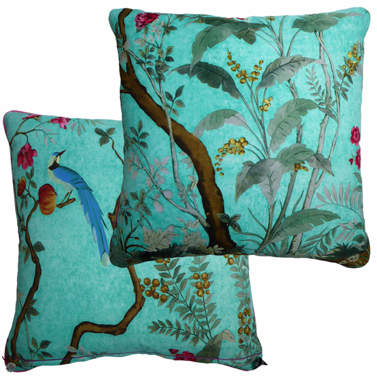 Kingfisher blue vintage cushions treniq 1 1528322685900