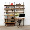 Nita reclaimed scaffolding board   steel pipe curved shelving   desk unit urban grain treniq 1 1528375927810