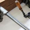 Nita reclaimed scaffolding board   steel pipe curved shelving   desk unit urban grain treniq 1 1528375927813