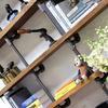 Nita reclaimed scaffolding board   steel pipe curved shelving   desk unit urban grain treniq 1 1528375937938