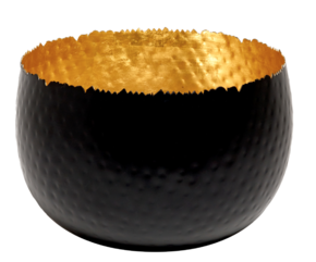 Dune Extra Large Bowl in Black and Gold