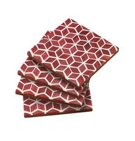 Starshine Coaster Set in Marsala Red