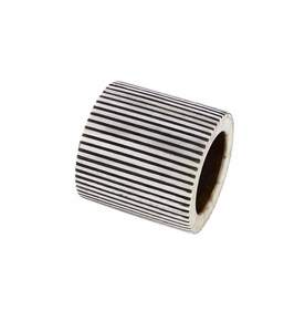 Pinstripe Napkin Ring in Black and White