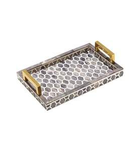 Gramercy Tray Large in Grey and White