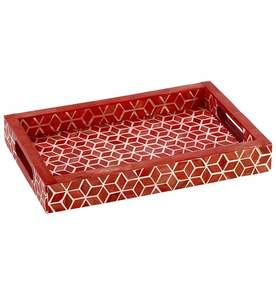 Starshine Tray Large in Marsala Red