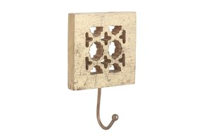 Agra Wall Hook in Distressed Gold