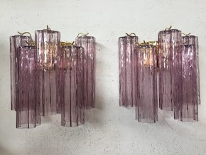 Pair-Of-2-Violet-Murano-Glass-Wall-Sconces-With-Tronchi_Il-Paralume-Marina_Treniq_0