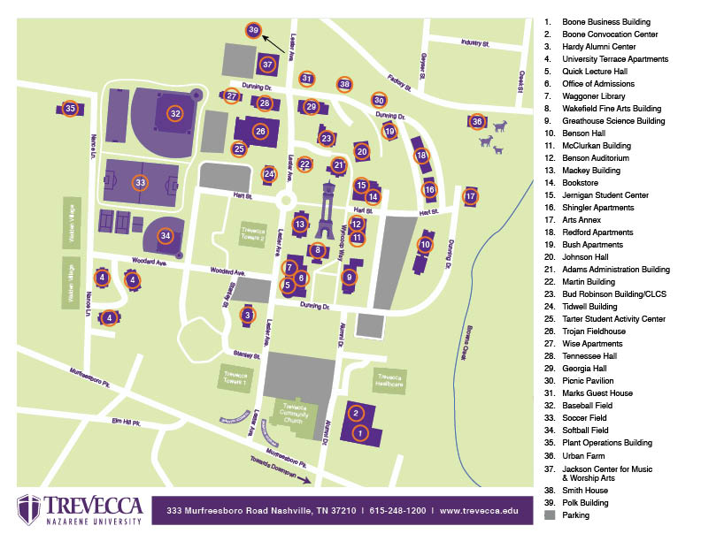 Maps & Directions | Trevecca Nazarene University