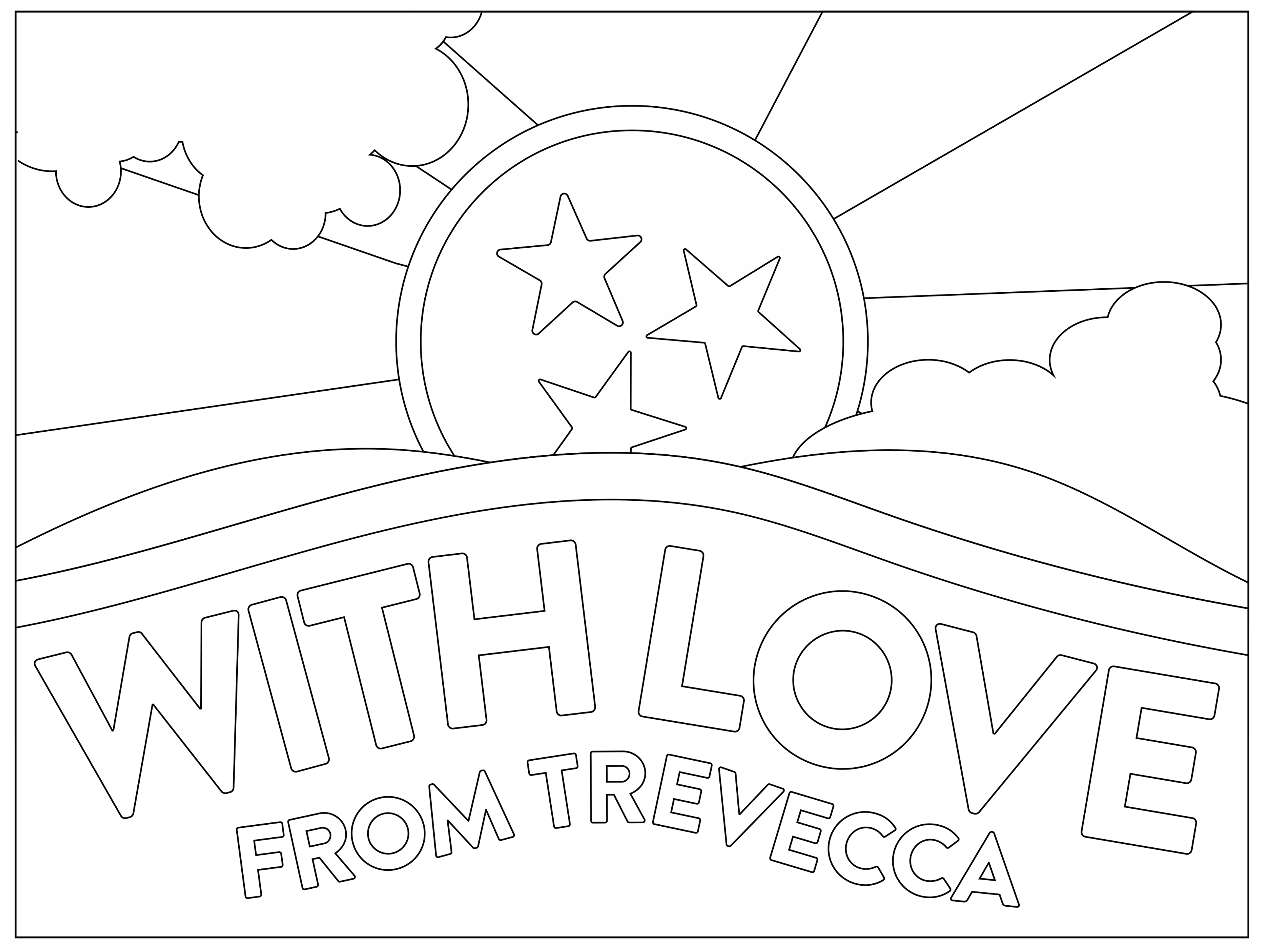 USA-Printables: State of Tennessee Coloring Pages - Tennessee ... | 2483x3300