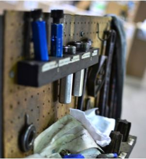 Workbench at Triangle Tube Headquarters