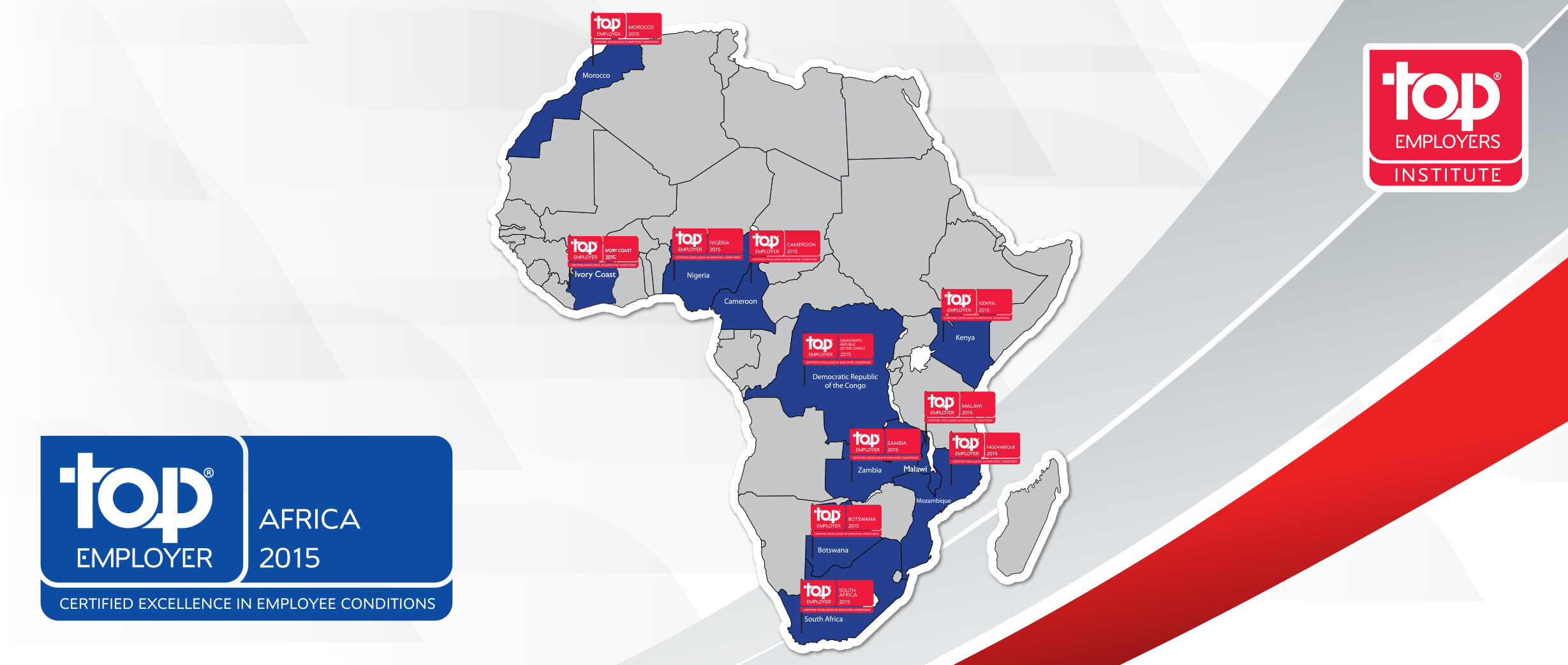 The CRF Institute recognised G4S as a Top Employer in Africa for 2012/13 in eleven African countries.