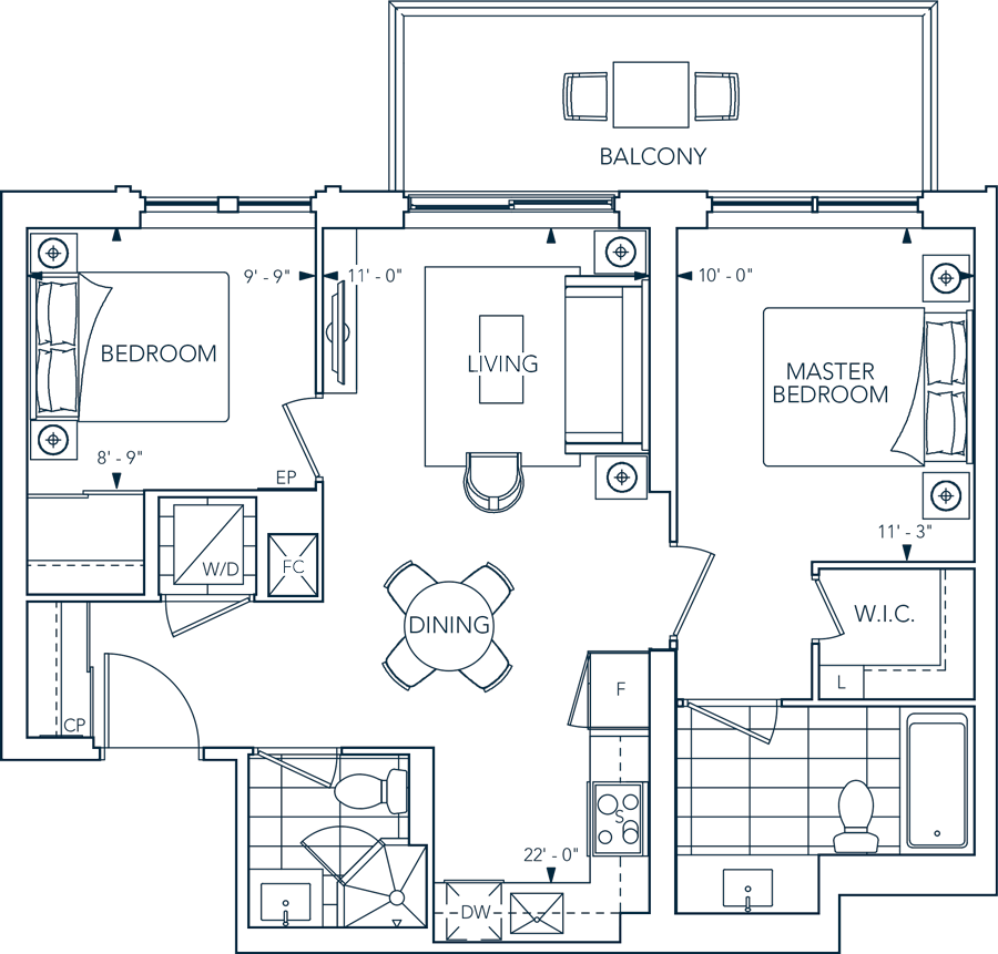 Evermore 2B Floorplan