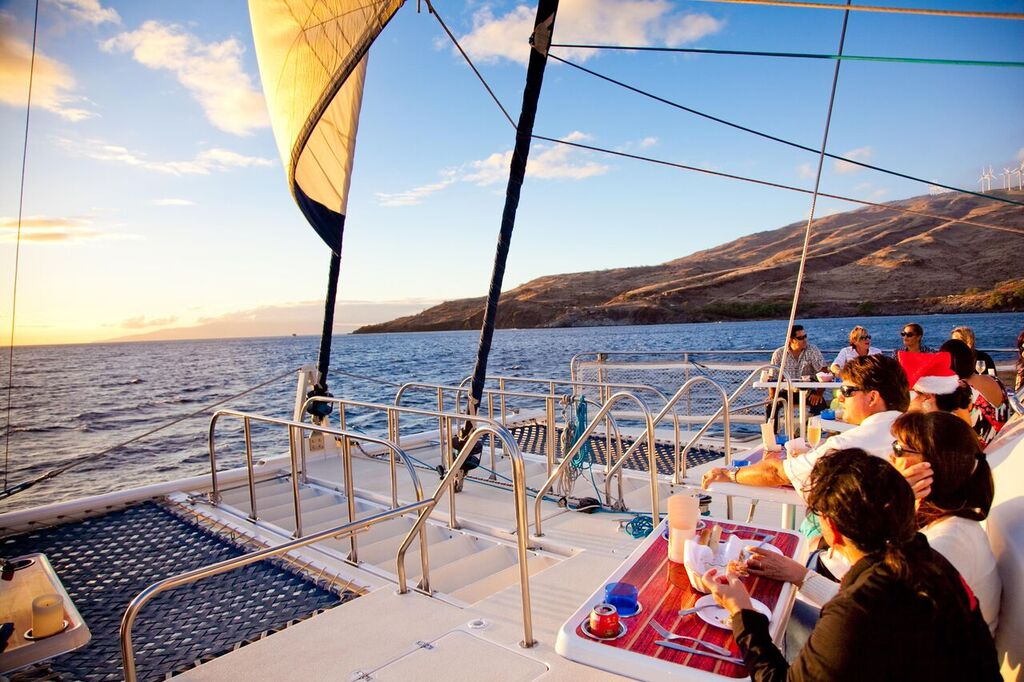 Plated Dinner Sunset Sail From Ma'alaea