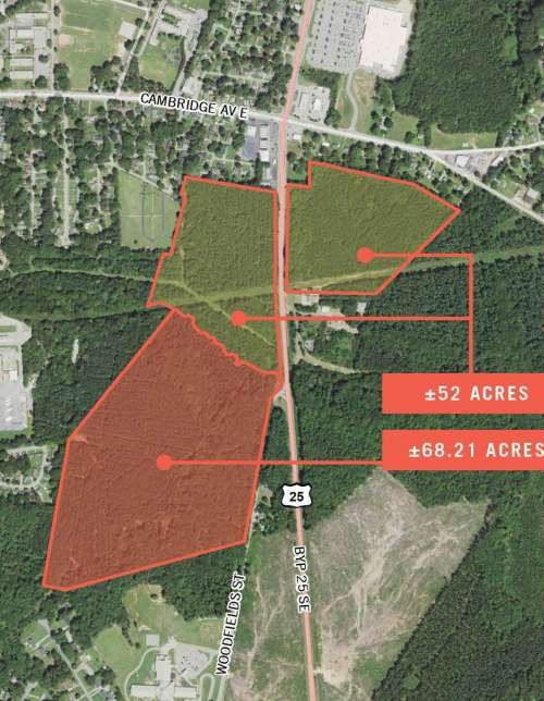 Development Tract at Bypass 25 SE and Woodfield Street