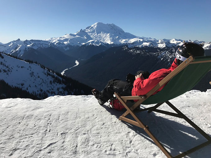 Basking in a Beach Chair in the Cascade Mountains of Washington