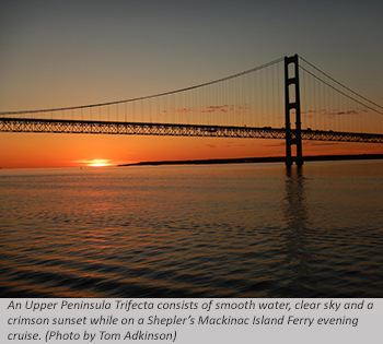 Mackinac Bridge at Sunset