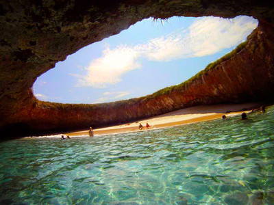 Hidden Beach : Marieta Islands, Puerto Vallarta, Mexico