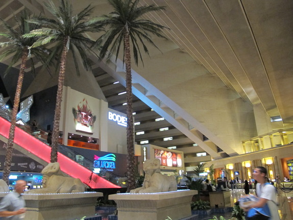 Luxor Hotel and Casino, <p><strong>Location.</strong> <br />Situated near the airport, this Las Vegas resort is also close to Bali Hai Golf Club and Thomas and Mack Center. Another nearby attraction is Sands Expo Convention Center. </p><p><strong>Features.</strong><br />Dining options at Luxor Hotel and Casino include a restaurant and a bar/lounge. Room service is available 24 hours a day. Recreational amenities include a spa tub, a sauna, and a fitness facility. Spa amenities include beauty services and a hair salon. This 3.5 star property has a business center and offers small meeting rooms, a technology helpdesk, and audio visual equipment. High speed Internet access is available in public areas. This Las Vegas property has event space consisting of banquet facilities, conference/meeting rooms, a ballroom, and exhibit space. Wedding services, concierge services, and tour assistance are available. Guest parking is complimentary. Additional property amenities include a casino, a poolside bar, and a coffee shop/café. </p><p><strong>Guestrooms.</strong> <br /> Bathrooms feature designer toiletries and hair dryers. Wireless and wired high speed Internet access is available for a surcharge; guestrooms also offer phones, voice mail, and complimentary newspapers. Televisions have video game consoles and pay movies. Air conditioned rooms also include blackout drapes/curtains, electronic check out, electronic/magnetic keys, and irons/ironing boards. Guests may request a turndown service and wake up calls. Housekeeping is available. Cribs (infant beds) and rollaway beds are available on request. </p> <br /><br /> <p><strong>Notifications and Fees:</strong><br /></p><p><ul><li>There are no room charges for children 10 years old and younger who occupy the same room as their parents or guardians, using existing bedding. </li> </ul></p><p></p><p></p> <p>The following mandatory hotel imposed fees are charged and collected by the hotel either at check in or check out.  <ul><li>Re