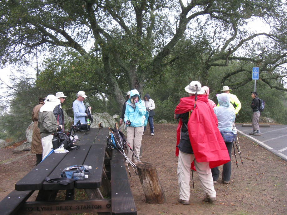 Trip photo #15/18 Donning rain gear before heading back down