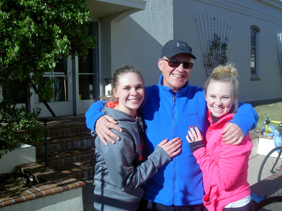 Trip photo #16/26 Our sag team - the Birthday Boy host and his two daughters