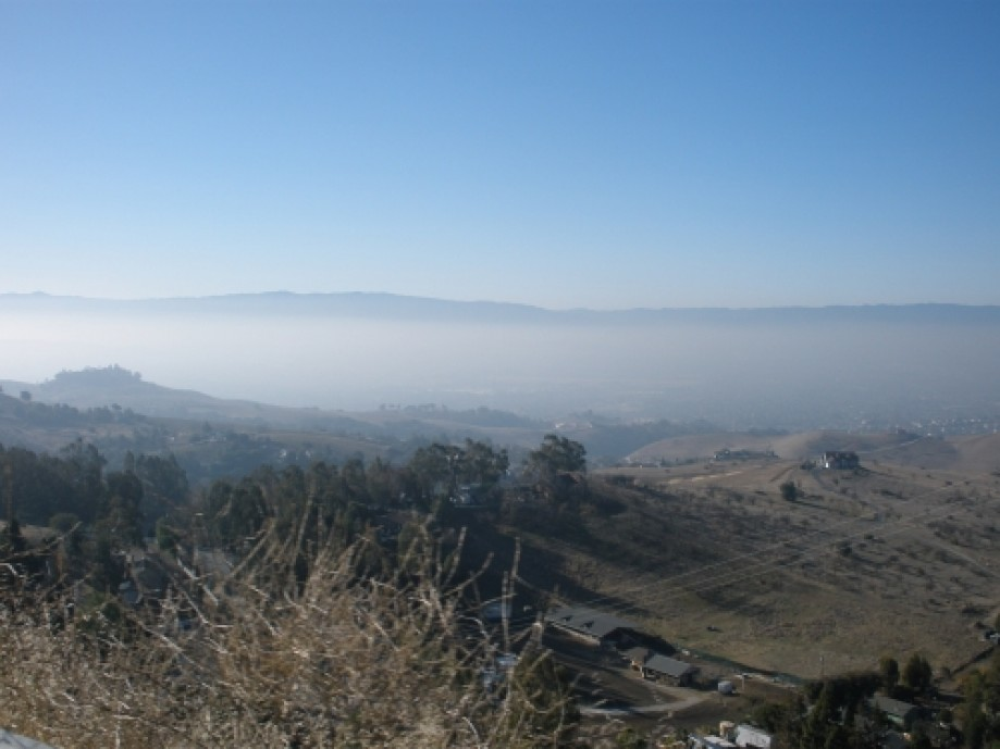 Trip photo #2/40 Lots of 'Spare the Air' haze in the valley