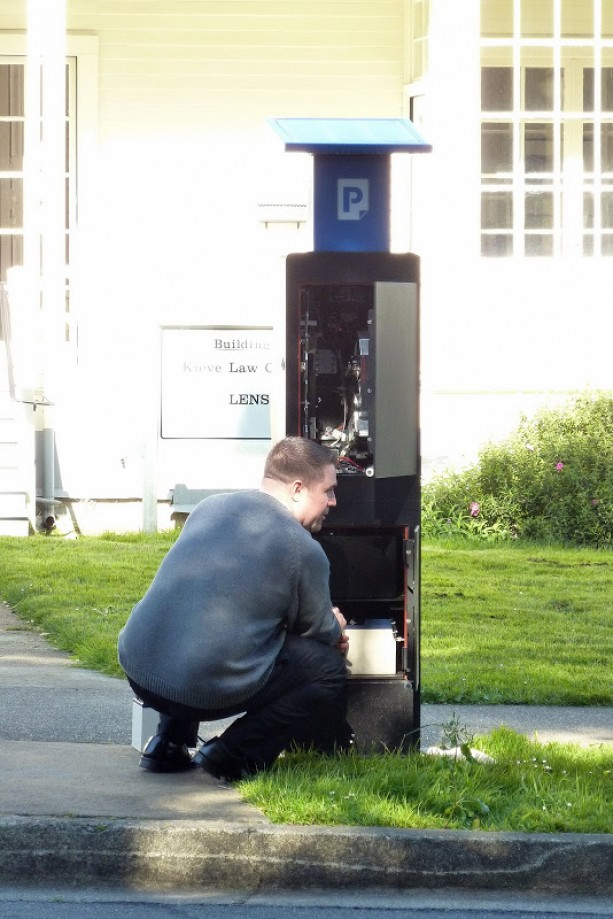 Trip photo #21/22 Fixing the Parking Meter Station