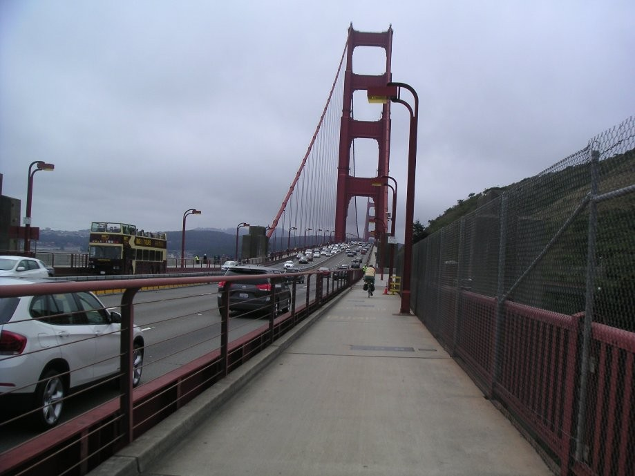 Trip photo #2/7 Crossing the Golden Gate (west side path for bikes only on the weekends)