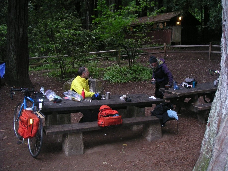 Trip photo #1/7 Hike&Bike campsite (packing up in the morning)