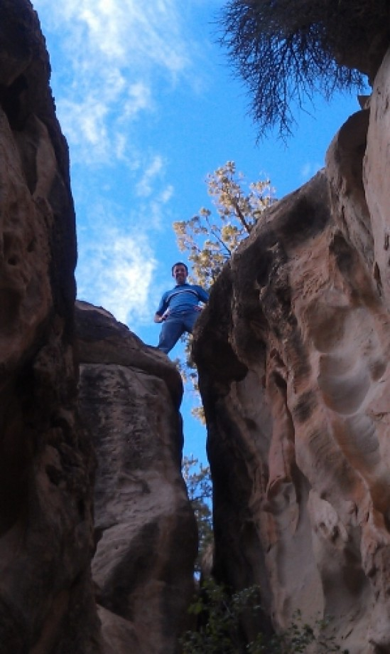 Trip photo #10/17 Jeremy After Climbing Through the Crack
