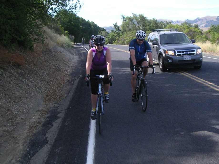Trip photo #3/21 Starting up Bollinger Canyon to Las Trampas