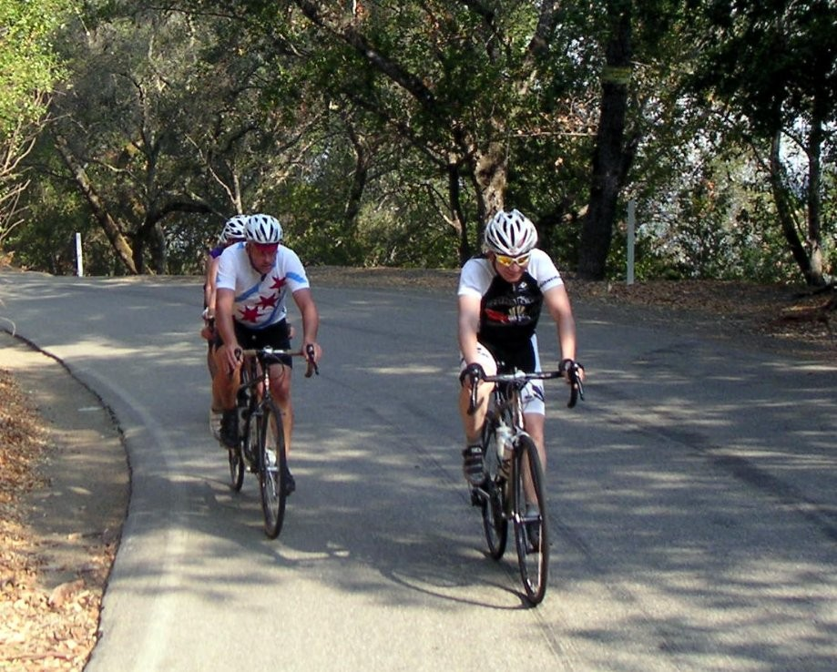 Trip photo #7/15 Heading up the climb on Calaveras Rd.